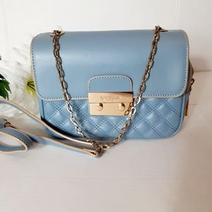 Spartina 449 blue leather crossbody bag